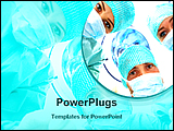 PowerPoint Template - doctors are in operation theater