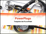 PowerPoint Template - a medical chart with stethoscope