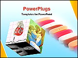 PowerPoint Template - medical cube with pills