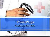 PowerPoint Template - closeup of a doctor holding stethoscope