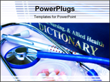 PowerPoint Template - blue toned focus point on metal part of stethoscope