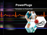 PowerPoint Template - Cardiogram background
