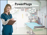 PowerPoint Template - Nurse and Hospital