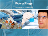 PowerPoint Template - Scientist In A Science Laboratory doing research