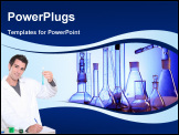 PowerPoint Template - Medical science equipment. Research, laboratory, science, testing