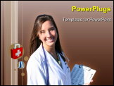 PowerPoint Template - Attractive female medical professional outside the hospital