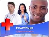 PowerPoint Template - African American Man and Woman Medical Workers
