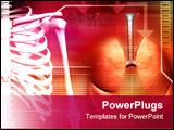 PowerPoint Template - Digital illustration of a human spine with lungs in brown colour