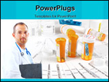 PowerPoint Template - Medicine bottles storage containers and medical insurance statements