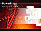 PowerPoint Template - d illustration of a series of intertwined red arteries over top of a dark red and orange circle-tex