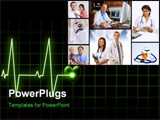 PowerPoint Template - collection of medical images with Doctors Nurses and children