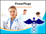 PowerPoint Template - Illustration of medical logo in colour shadings