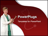 PowerPoint Template - his blue and white template with a doctor at work and Stethoscope at the backgrond will be a good h