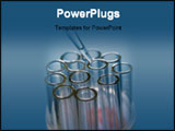PowerPoint Template - Glass measurer dripping fluid into tubes