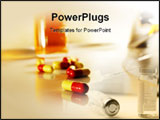 PowerPoint Template - Pills in the bathroom for healthier living.