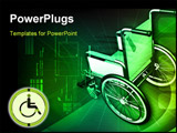 PowerPoint Template - Digital Illustration of wheel chair in color background