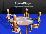 PowerPoint Template - a 3d rendering of a business meeting