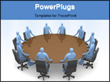 PowerPoint Template - 3d business People Having A Meeting