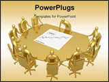 PowerPoint Template - Computer generated image - Briefing room .