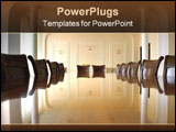 PowerPoint Template - Classic style of business meeting of conference room interior