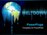 PowerPoint Template - The earth melting away