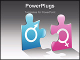 PowerPoint Template - ector drawing on gender relations. The file is saved in eps format for illustrator 8. Easily edited