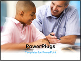 PowerPoint Template - Teacher giving personal instruction to male student