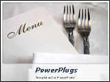 PowerPoint Template - Menu with forks on white table cloth