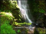 PowerPoint Template - Merriman Falls in the Quinault temperate rainforest area of Olympic National Park