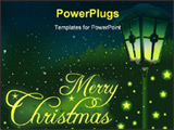 PowerPoint Template - christmas theme - high detailed and colored illustration with christmas theme.