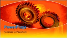 PowerPoint Template - Two gears meshing together