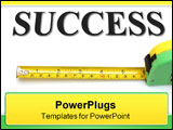 PowerPoint Template - mesure your success. measuring tape and word success