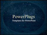 PowerPoint Template - Window to the universe on blue
