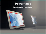 PowerPoint Template - two computer on a desk