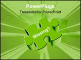 PowerPoint Template - an illustration of a green puzzle piece