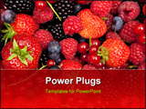 PowerPoint Template - colorful mix of fresh berries close studio shoot