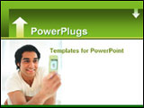 PowerPoint Template - A man taking a picture with his cell phone