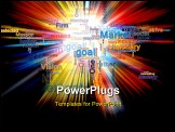 PowerPoint Template - color picture of business words explosion against black background