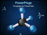PowerPoint Template - CH4 Methane molecule photoshop march 2009 carbone black hidrogene blue