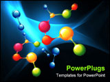 PowerPoint Template - series of molecules and atoms colored vector drawing
