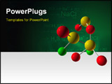 PowerPoint Template - 3D CG Render Molecule For Health Science