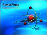 PowerPoint Template - Render of molecule on the blue background