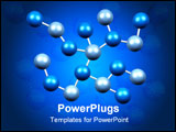 PowerPoint Template - Molecules Formation in Blue Isolated on a Black Background