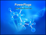 PowerPoint Template - 3d rendered illustration of molecules on a blue background