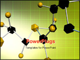 PowerPoint Template - Digital illustration of molecule samples with colour background