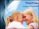 PowerPoint Template - Happy mother and daughter looking at each other and smiling