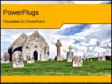 PowerPoint Template - The monastery of Clonmacnoise, Ireland - Temple Dowling, sometimes referred to as MacClaffey
