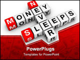 PowerPoint Template - money never sleep (from buzzword cubes series)