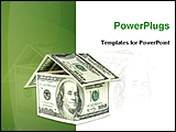 PowerPoint Template - image showing money house