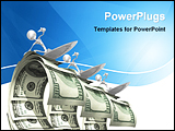 PowerPoint Template - surfing Money Wave